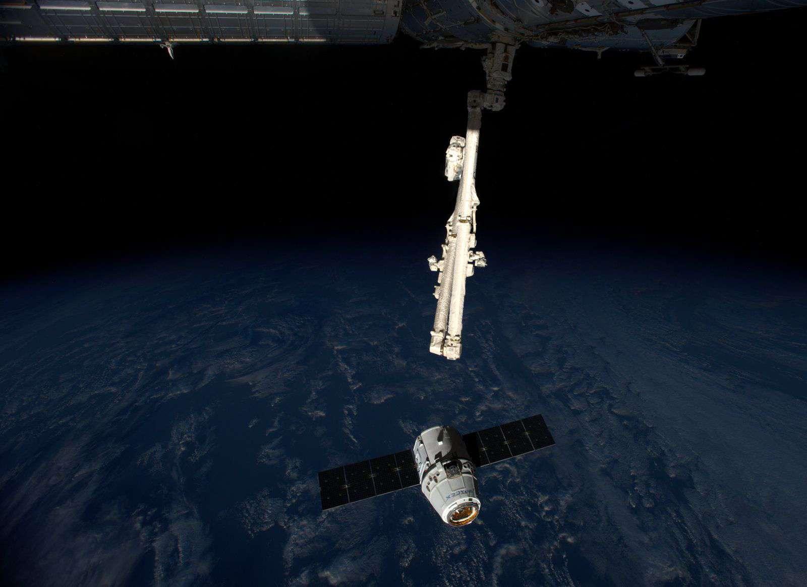 SpaceX ya ha realizado cuatro misiones de abastecimiento de las doce que acordó con la NASA en un contrato de 1,600 millones de dólares. Foto: ESA