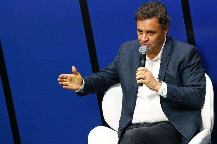 Candidato do PSDB à Presidência, Aécio Neves, em entrevista ao jornal O Globo no Rio de Janeiro. 10/09/2014 Foto: Ricardo Moraes/Reuters