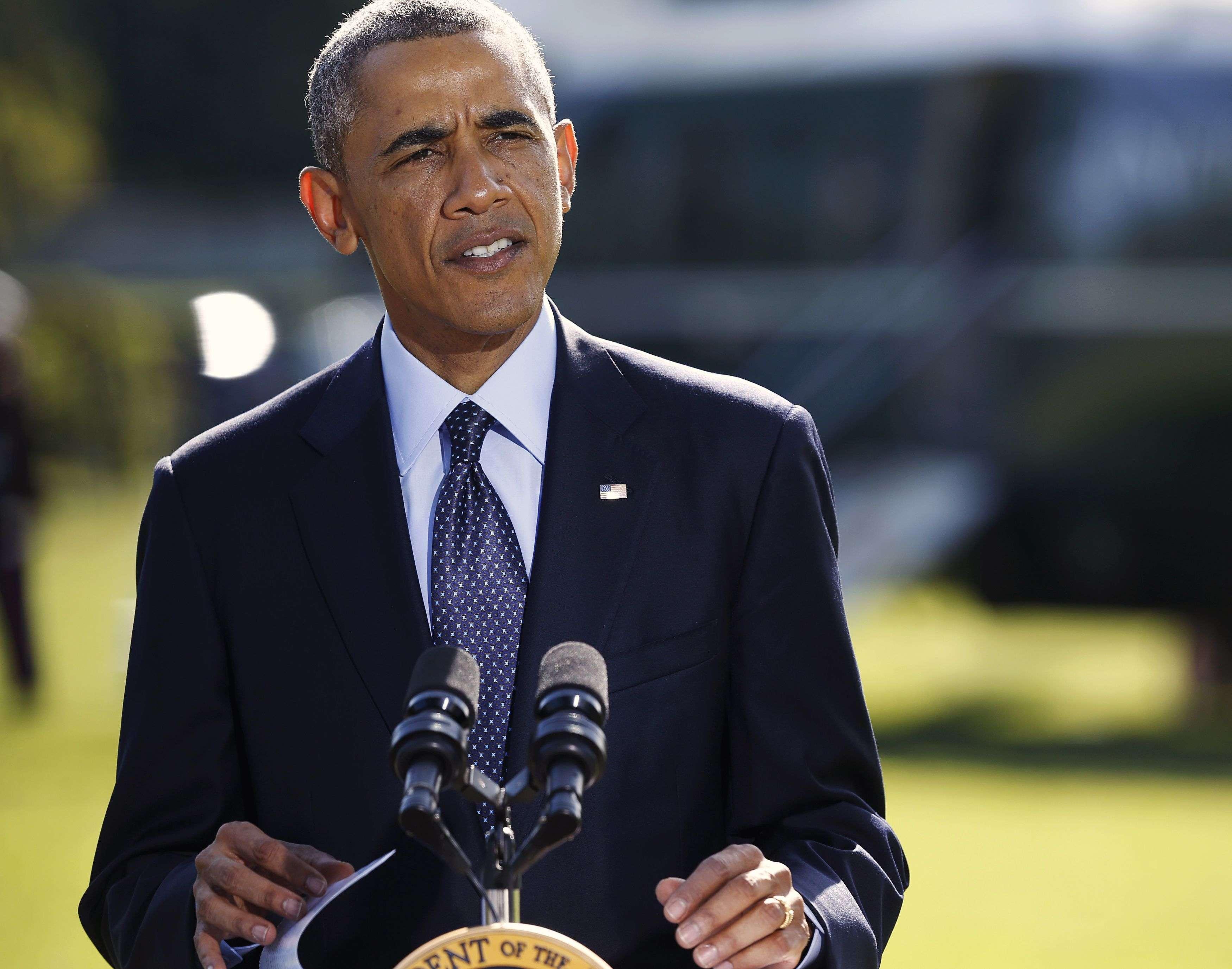 Obama falou da Casa Branca sobre ataques realizados contra os jihadistas da Síria Foto: Gary Cameron /Reuters