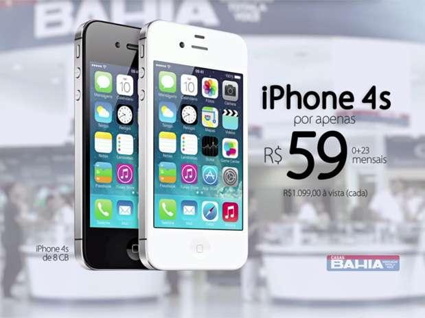 Promoção facilita a compra do Iphone Foto: Reprodução