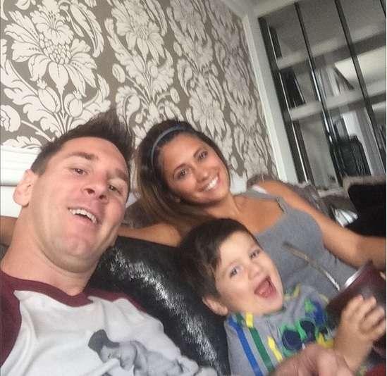 Messi pasó la tarde junto a su familia. Foto: @leomessi / Instagram