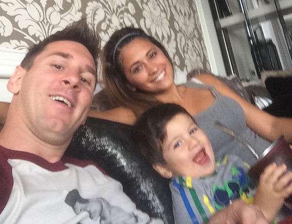 Messi junto a su familia. Foto: Instagram
