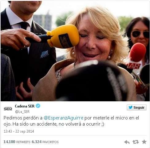 El microfonazo a Aguirre. Foto: @La_SER