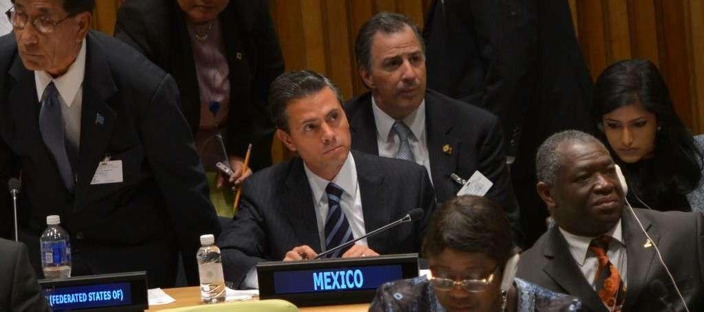 Peña Nieto dijo que para México el cambio climático es un compromiso de Estado. Foto: Presidencia de México
