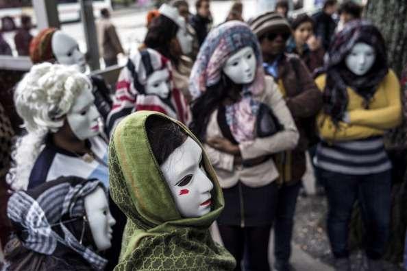 Protesta de trabajadoras sexuales en Francia Foto: AFP/Archivo
