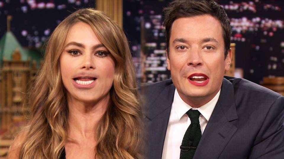 Sofía Vergara se divirtió con Jimmy Fallon en 'The Tonight Show'. Foto: Reproducción