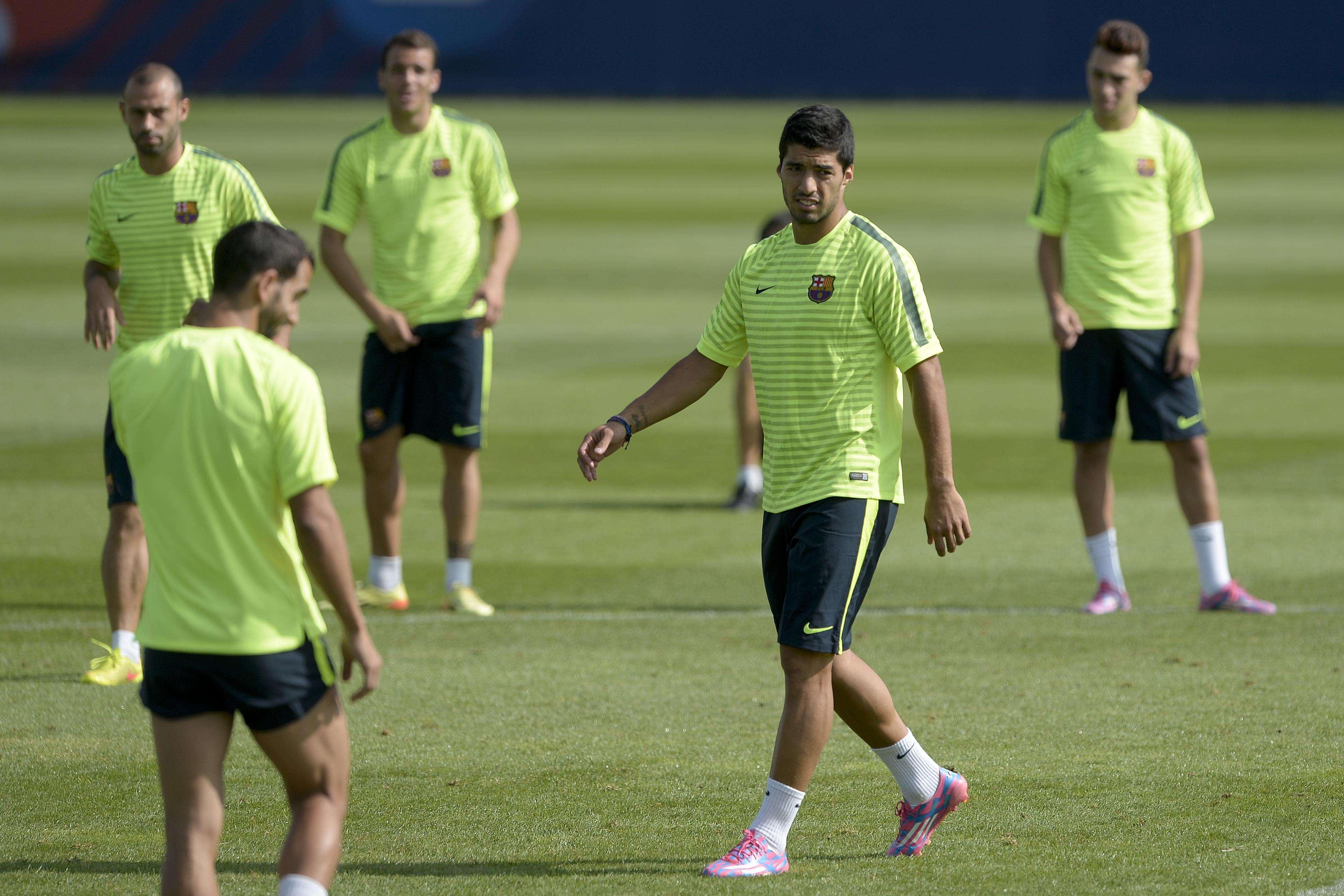 Luis Suárez sigue preparando su reaparición. Foto: AFP en español