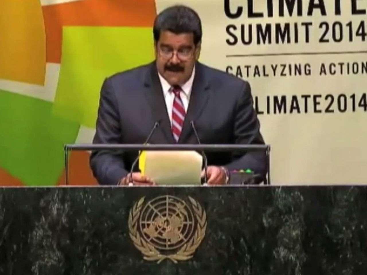 """En declaraciones a TeleSUR, Maduro elogió las manifestaciones en las calles de jóvenes que le piden a los líderes políticos: """"¡Ya basta de palabras queremos acción!"""" Foto: YouTube"""