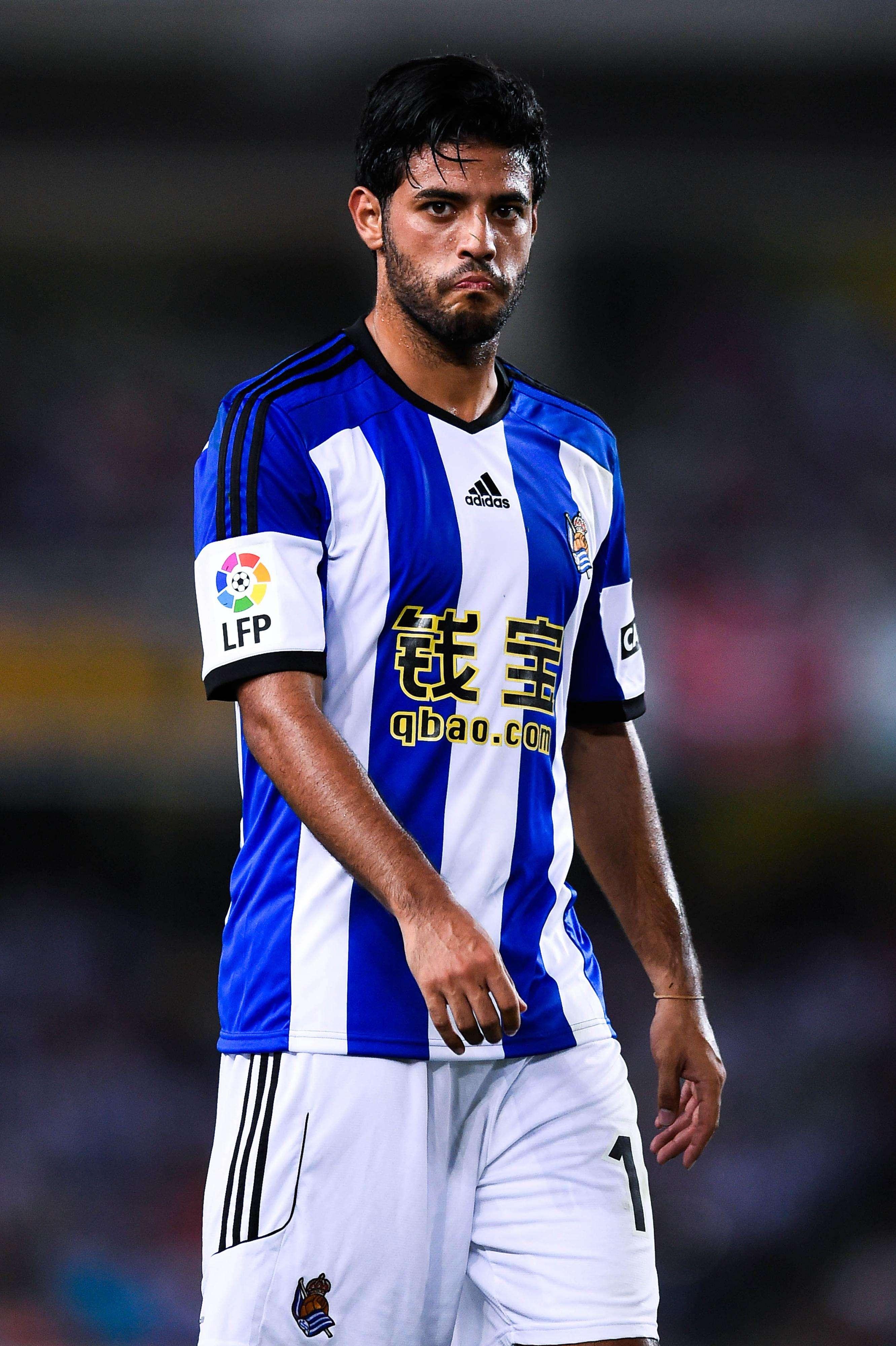 Carlos Vela tuvo apenas 30 minutos de juego en el partido entre Real Sociedad y Sevilla. Foto: Getty Images