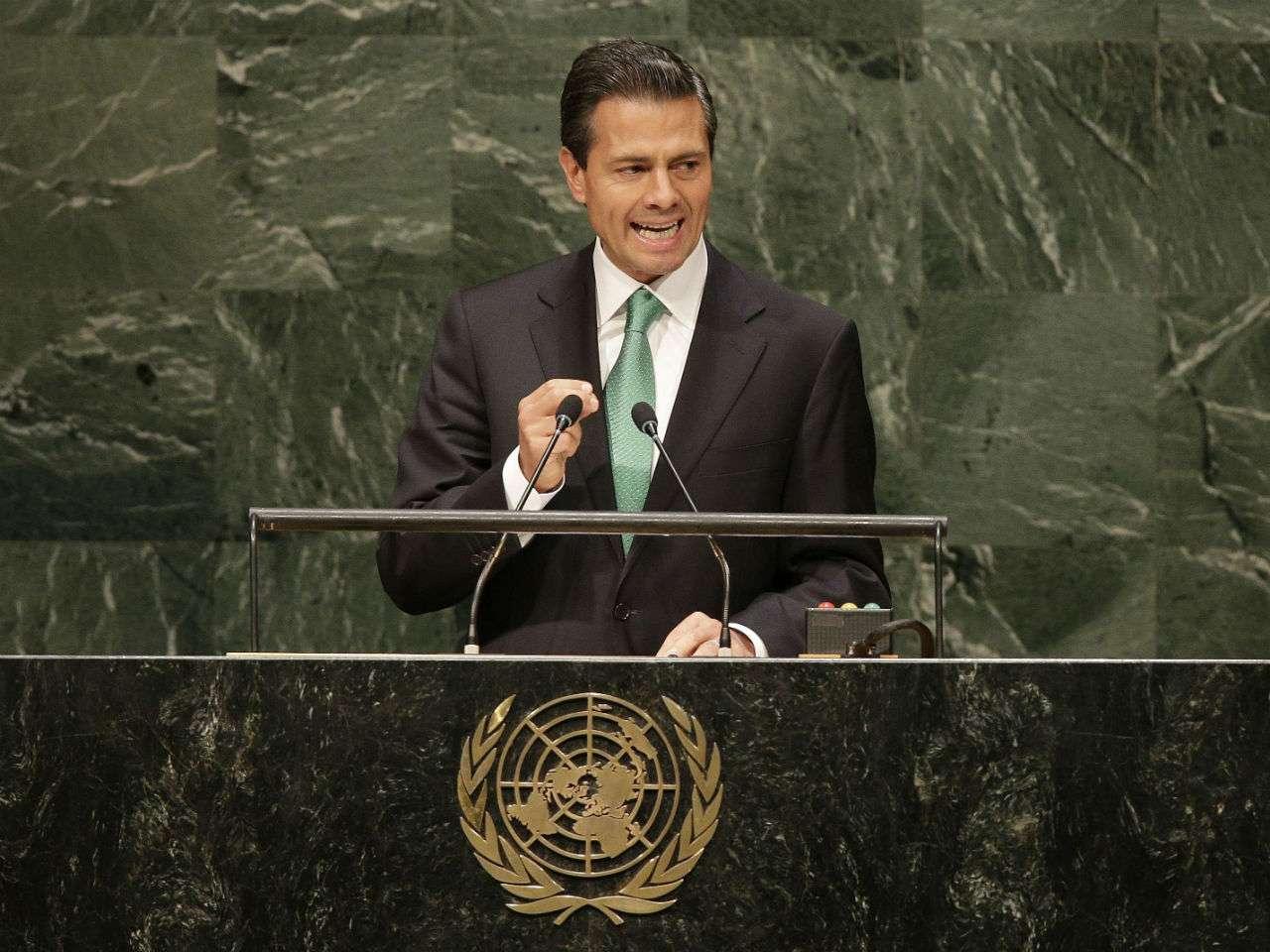 En la Asamblea General de las Naciones Unidas, Peña Nieto también llamó a atender las nuevas problemáticas que amenazan la integridad de derechos de niñas, niños y adolescentes. Foto: EFE en español