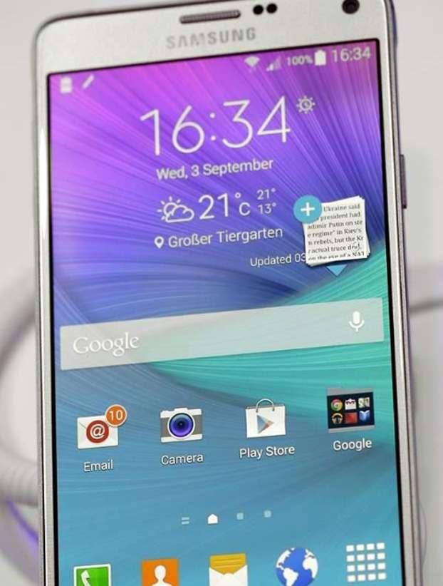 Samsung lanzará el Galaxy Note 4 este viernes en Corea del Sur y China Foto: AP en español