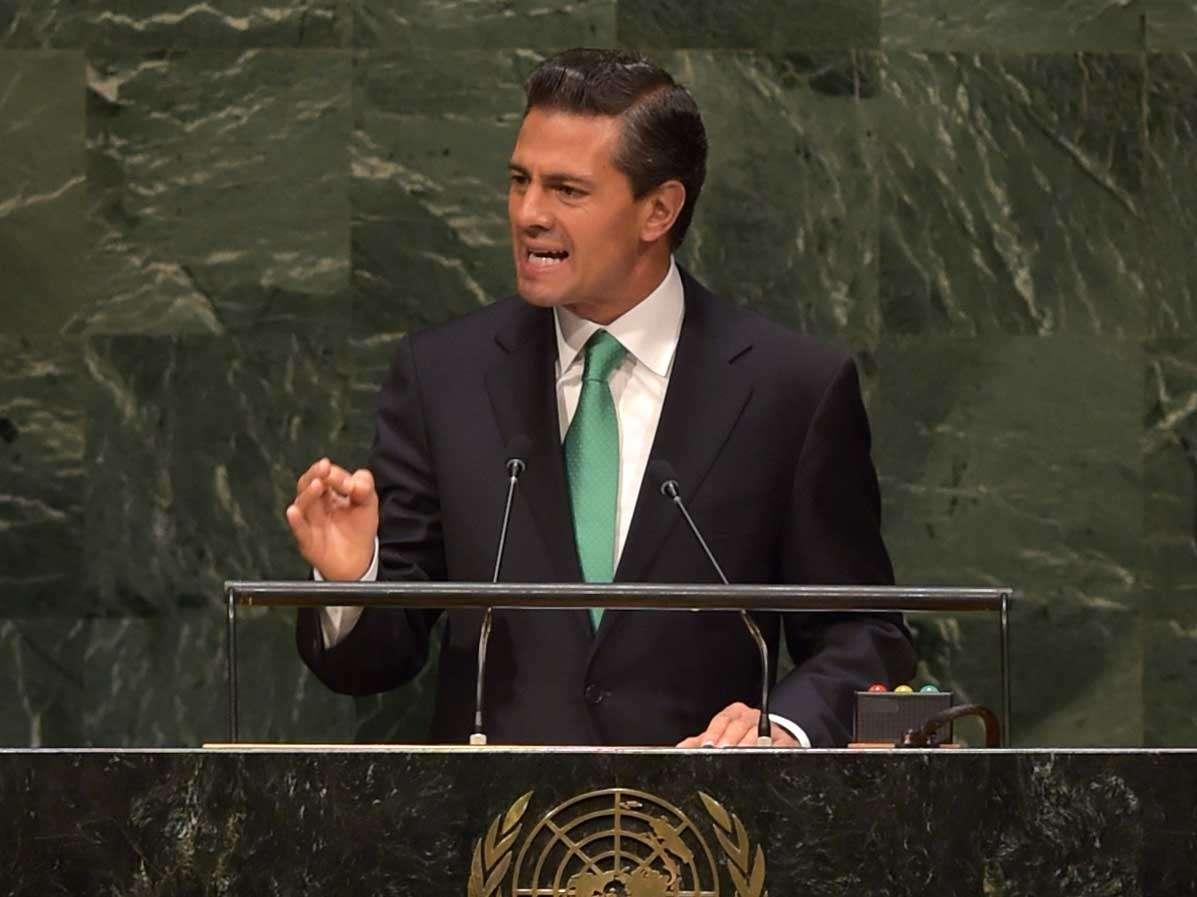 Durante la Asamblea General de Naciones Unidas, anunció que México participará en acciones de mantenimiento de la paz de la organización internacional, realizando labores humanitarias en beneficio de la población. Foto: Presidencia de la República