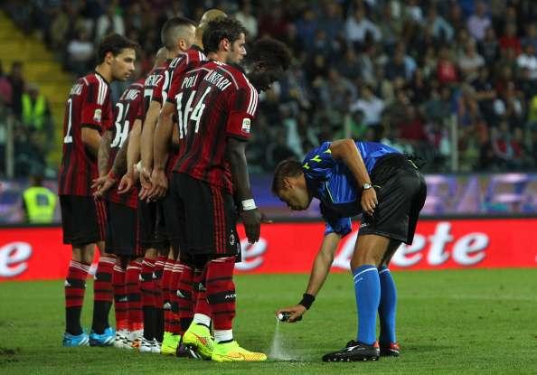 La Serie A y la Premier League implementaron el spray a partir de esta temporada. Foto: Getty Images