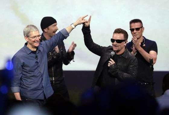 Lanzamiento de Songs Of Innocence de U2 con Apple Foto: Difusión
