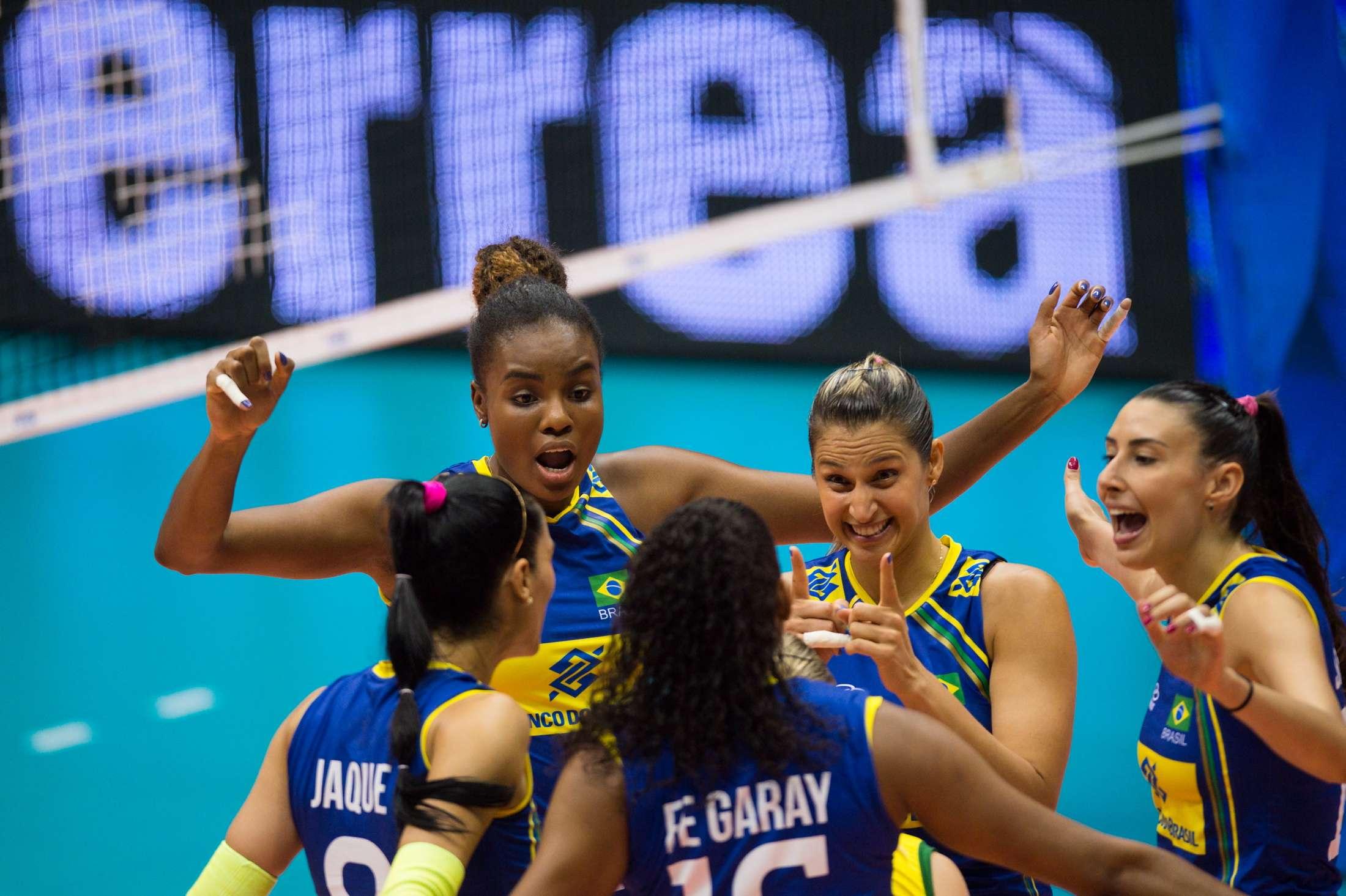 Brasil faz festa com ponto contra a Turquia no Mundial de Vôlei Foto: FIVB/Divulgação