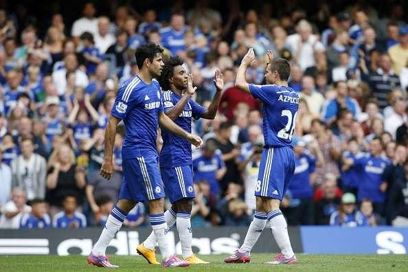 Chelsea derrotó (3-0) con facilidad al Aston Villa. Oscar, Diego Costa y Willian fueron los anotadores. Foto: Getty Images