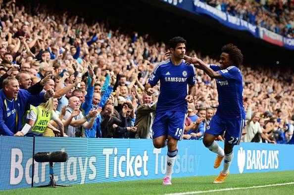 Costa (izquierda) ha marcado ocho goles. Foto: Getty Images