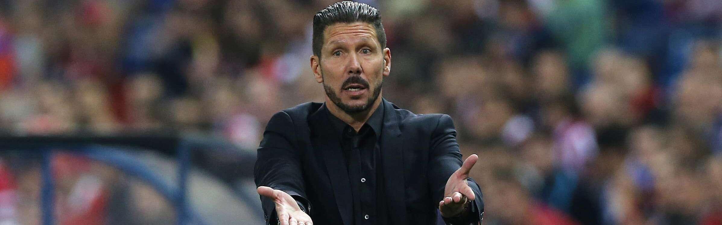 Diego Simeone, director técnico del Atlético de Madrid. Foto: EFE