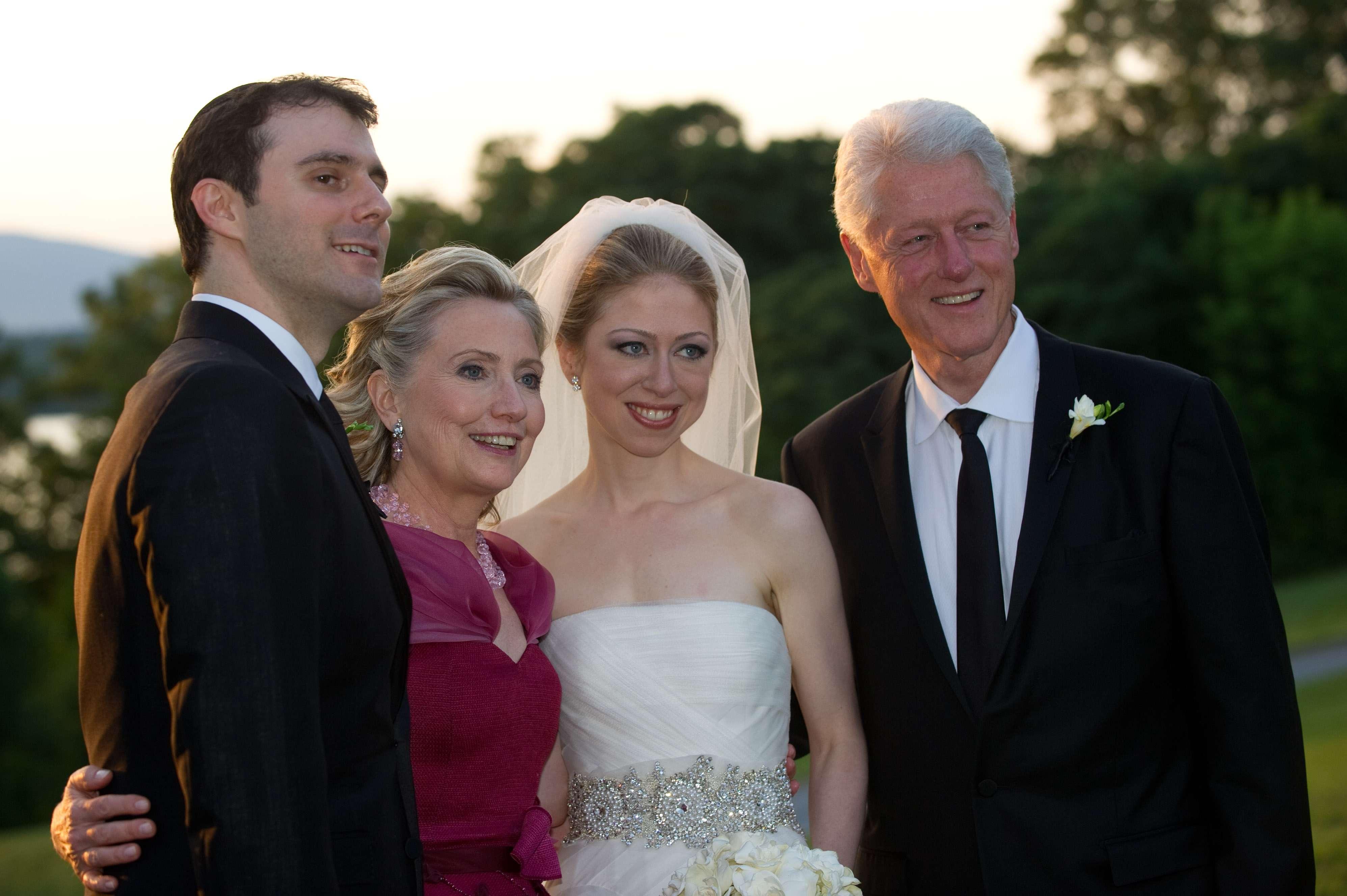Hillary e Bill se tornaram avôs neste sábado Foto: Getty Images