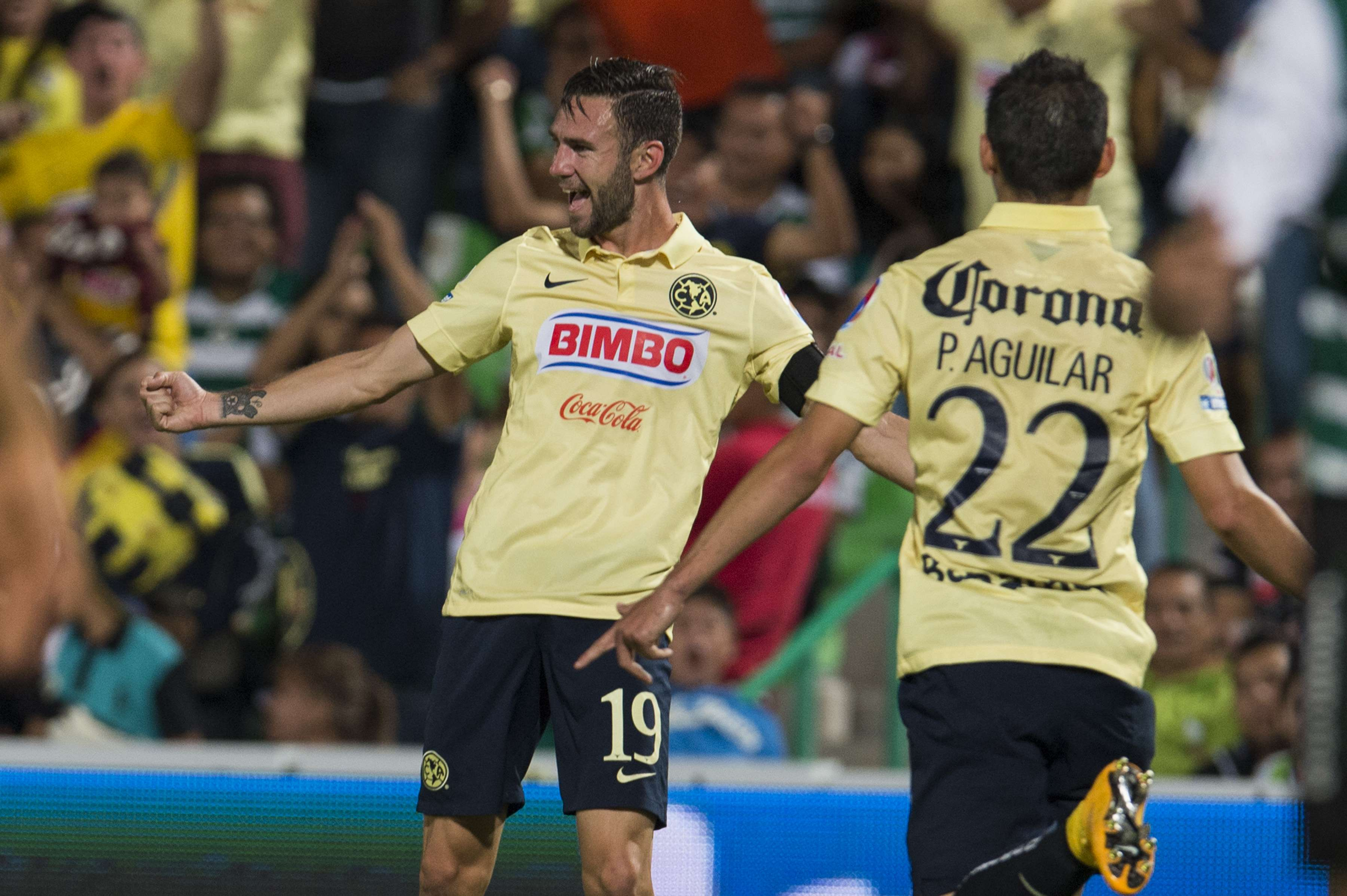 Miguel Layún abrió el marcador para América en un tiro de esquina. Foto: Mexsport