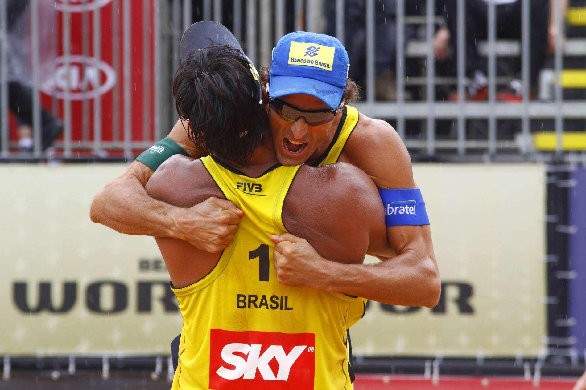 Ricardo e Emanuel mostraram que entrosamento ainda existe Foto: Alexandre Arruda/CBV/Divulgação