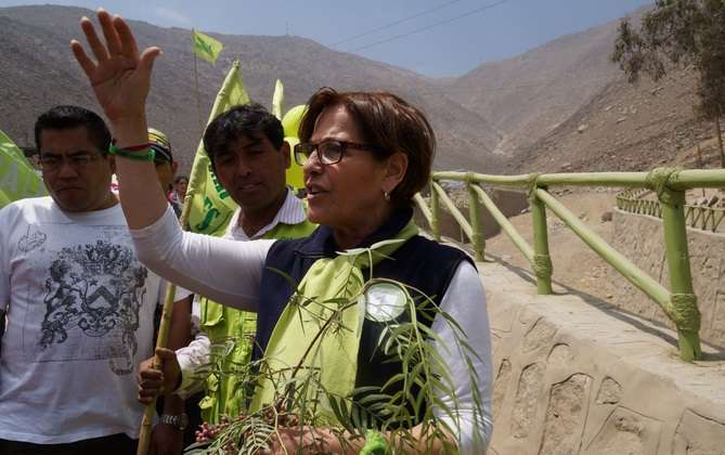 Alcaldesa de Lima, Susana Villarán. Foto: Andina