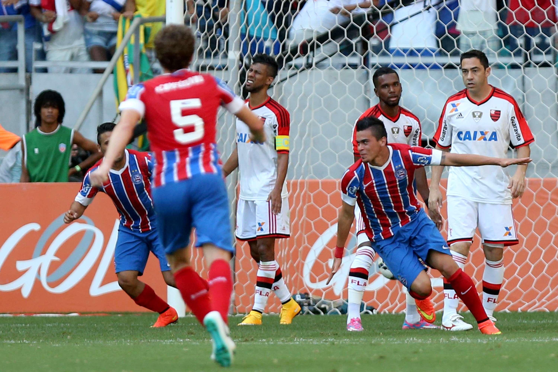 Emanuel fez dois gols para o Bahia Foto: Pedro Vilela/Getty Images