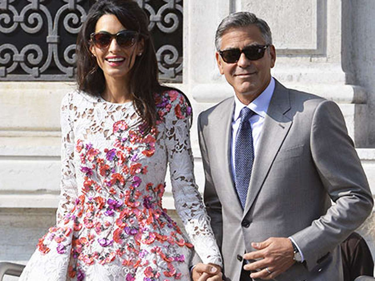 George Clooney y Amal Alamudin. Foto: AFP en español