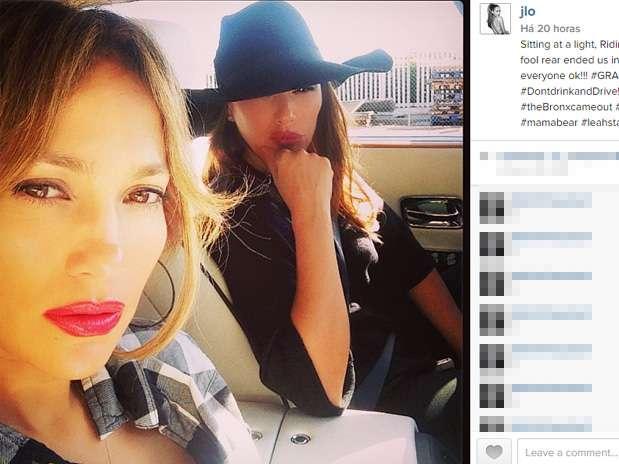 Jennifer Lopez e Leah Remini pouco antes do acidente Foto: @jlo/Reprodução