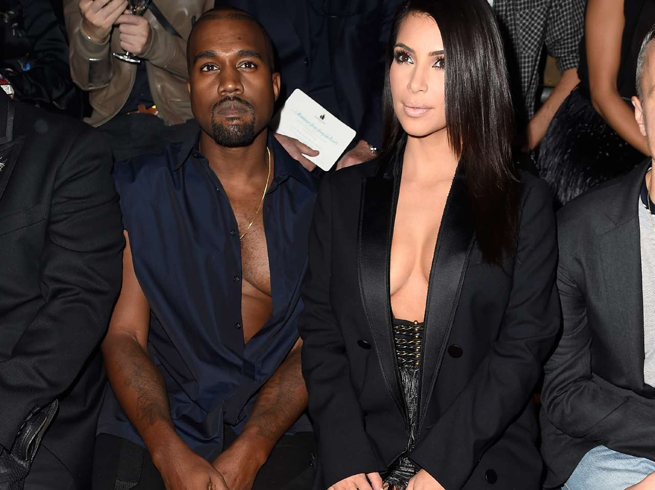 Kim Kardashian y Kanye West. Foto: Getty Images