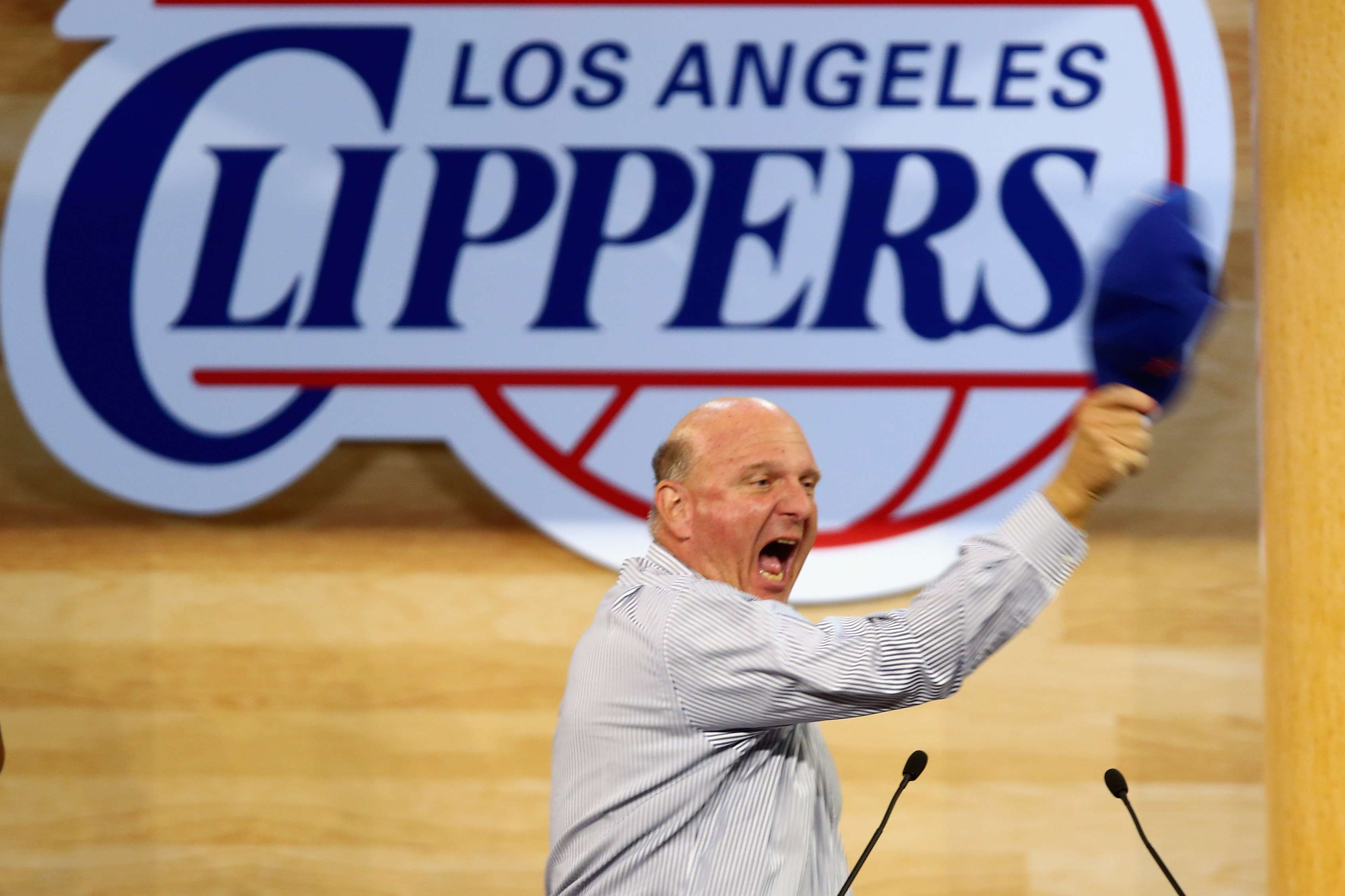 Steve Ballmer baniu aparelhos Apple da franquia Foto: Jeff Gross/Getty Images