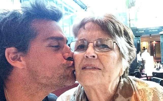 Cristián de la Fuente con su madre. Foto: Instagram/Cristián de la Fuente