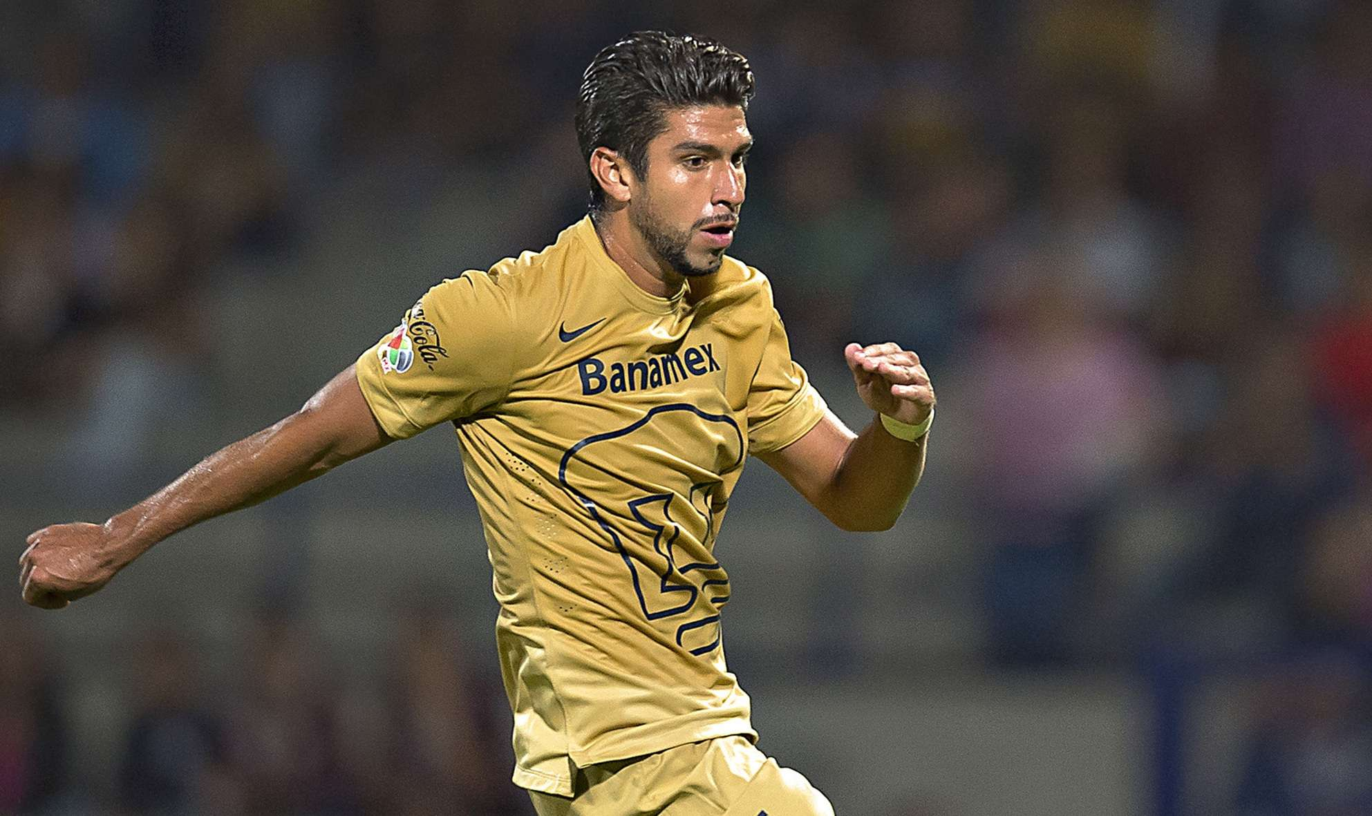 Eduardo Herrera marcó un gol en el empate de Pumas 2-2 ante Jaguares. Foto: Mexsport