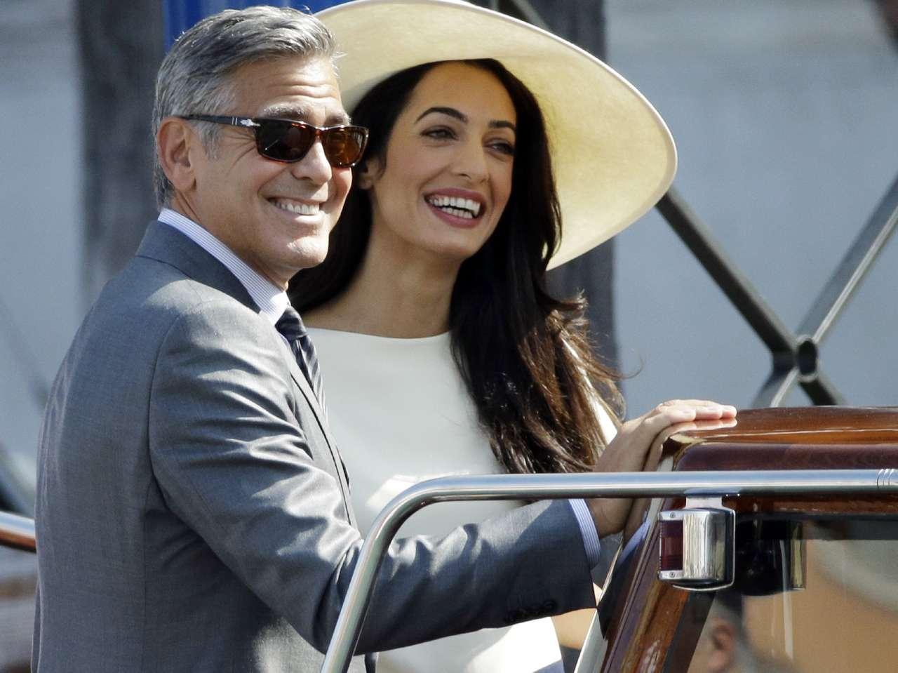 George Clooney y Amal Alamuddin. Foto: AP en español