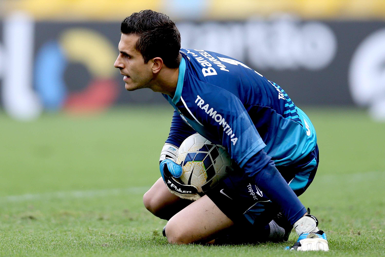 Marcelo Grohe segue sem ser vazado pelo Grêmio Foto: Matthew Stockman/Getty Images