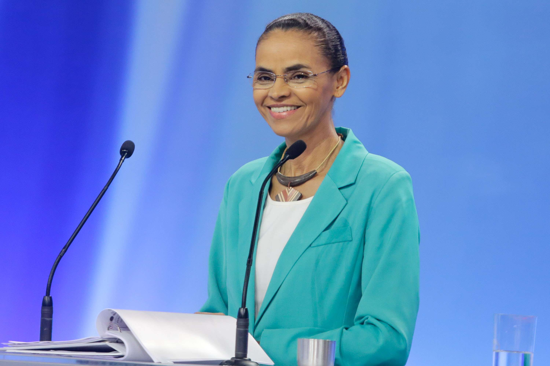 Candidata Marina Silva no debate dos presidenciáveis da Record Foto: Gabriela Biló/Futura Press