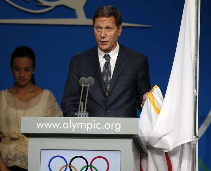 Alexander Zhukov of Russia takes the oath as a new member of the International Olympic Commitee in Buenos Aires September 10, 2013. Foto: Enrique Marcarian/Reuters