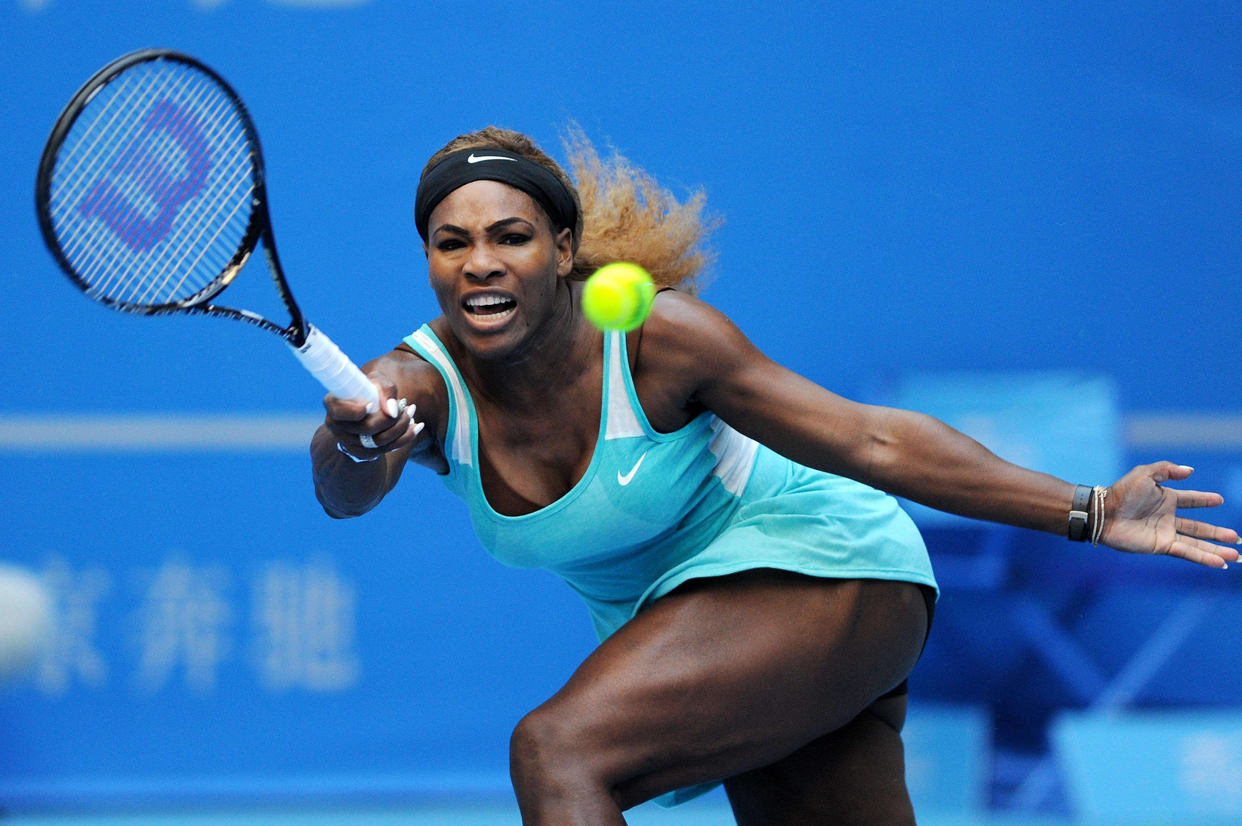 Serena comenzó con el pie derecho en China. Foto: AFP