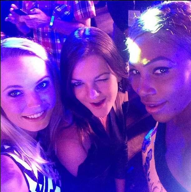 Wozniacki, Serena y Radwanska en plena fiesta. Foto: Instagram Caroline Wozniacki