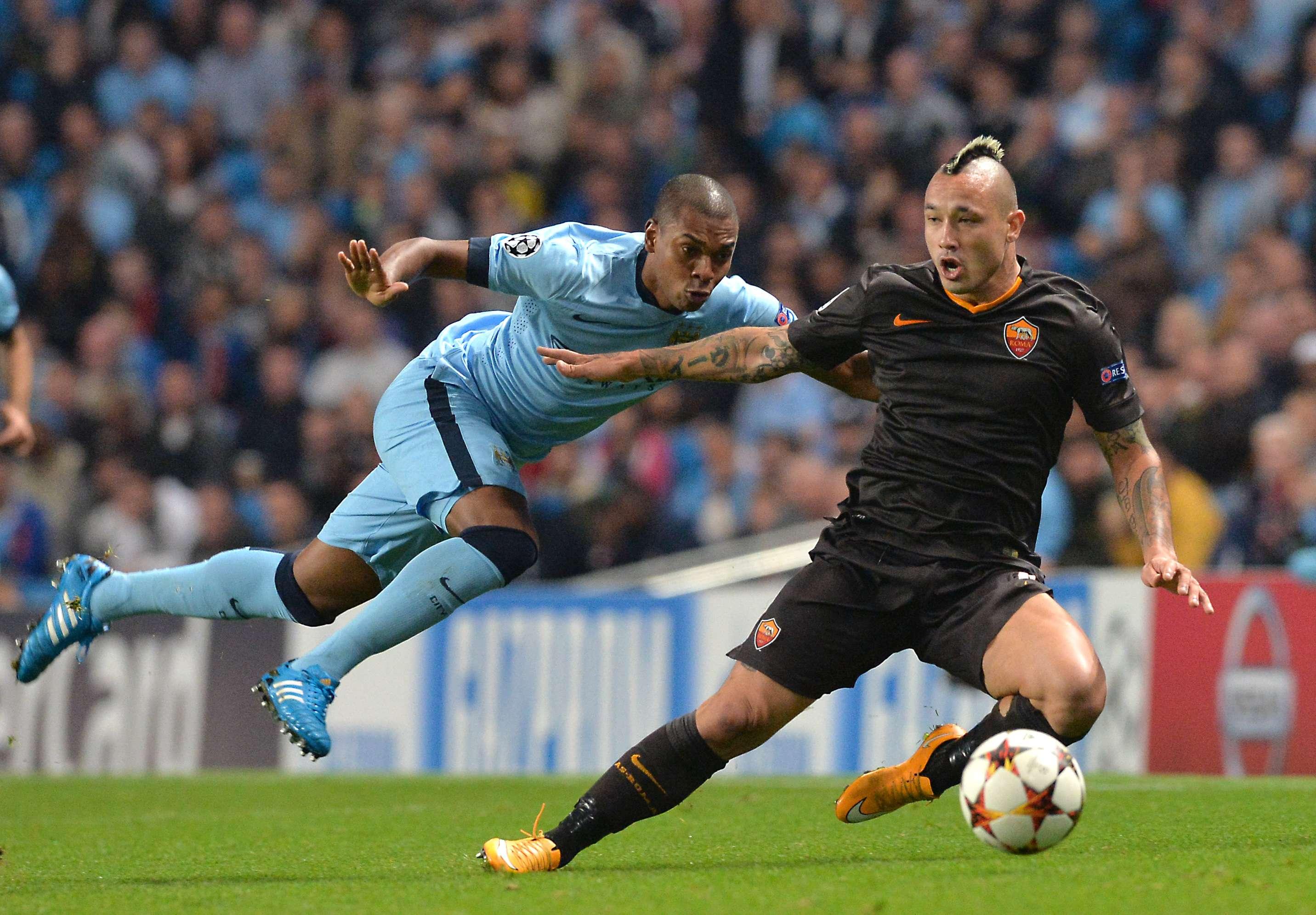 City no pudo ante Roma y el golazo de Totti. Foto: AFP en español