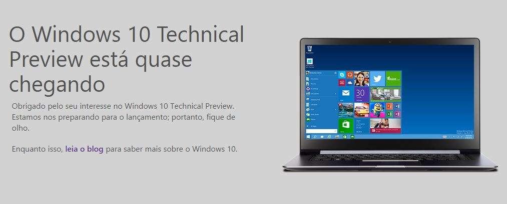 Windows 10 deve ser lançado em 2015, porém não há previsão de data Foto: Microsoft/Divulgação
