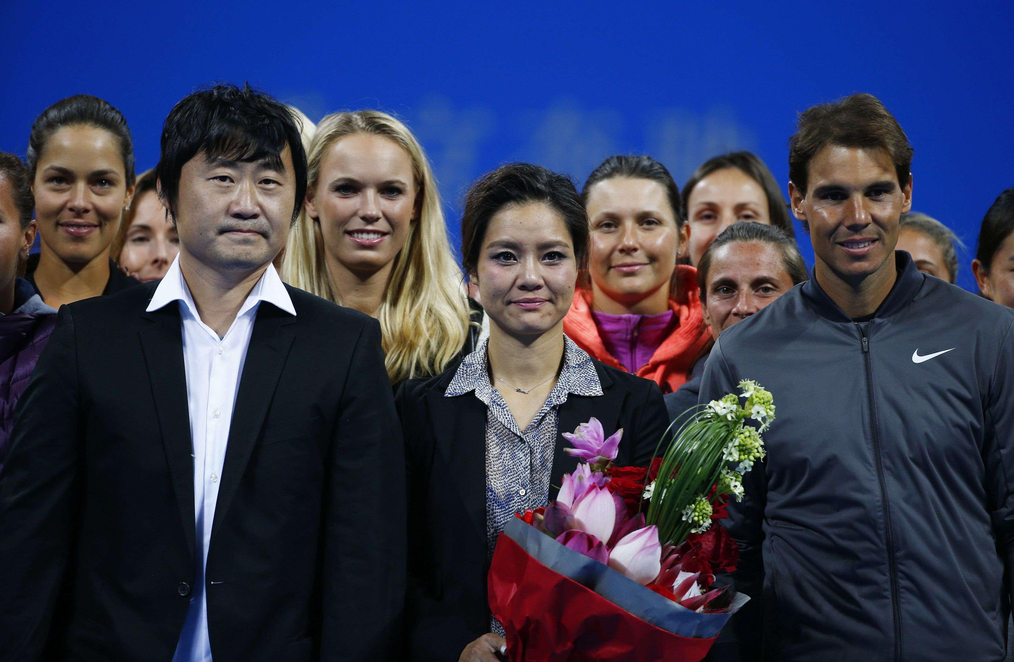 Diversos tenistas participaram de despedida de Na Li Foto: Petark Jundzic/Reuters