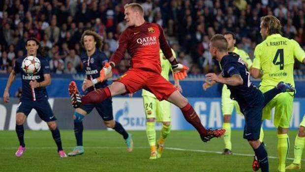 Ter Stegen fue responsable en al menos uno de los goles de PSG Foto: Getty Images