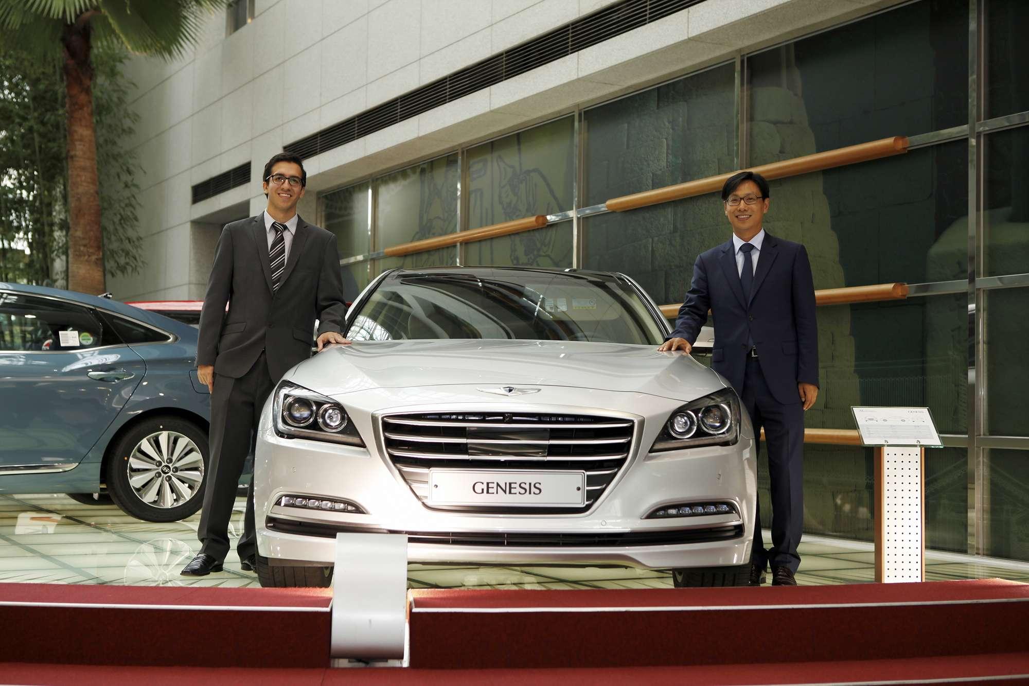 O cearense Caio César passou por um período de estágio na Hyundai Foto: Divulgação