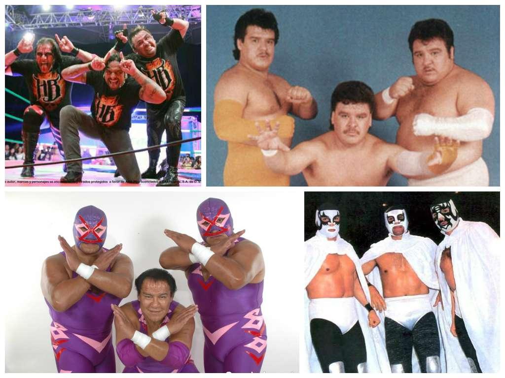 Con la reciente aparición de los Hell Brothers en AAA, recordamos a las mejores tercias de la lucha libre mexicana, chécalas: Foto: Archivo