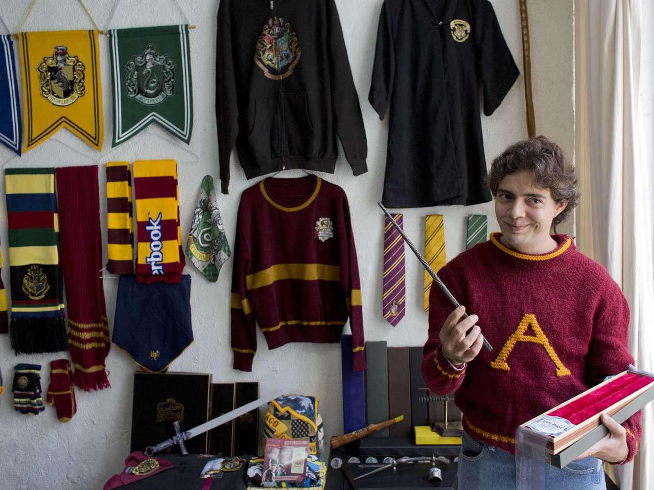 Récord Guinness a la colección más grande de 'Harry Potter'. Foto: AP