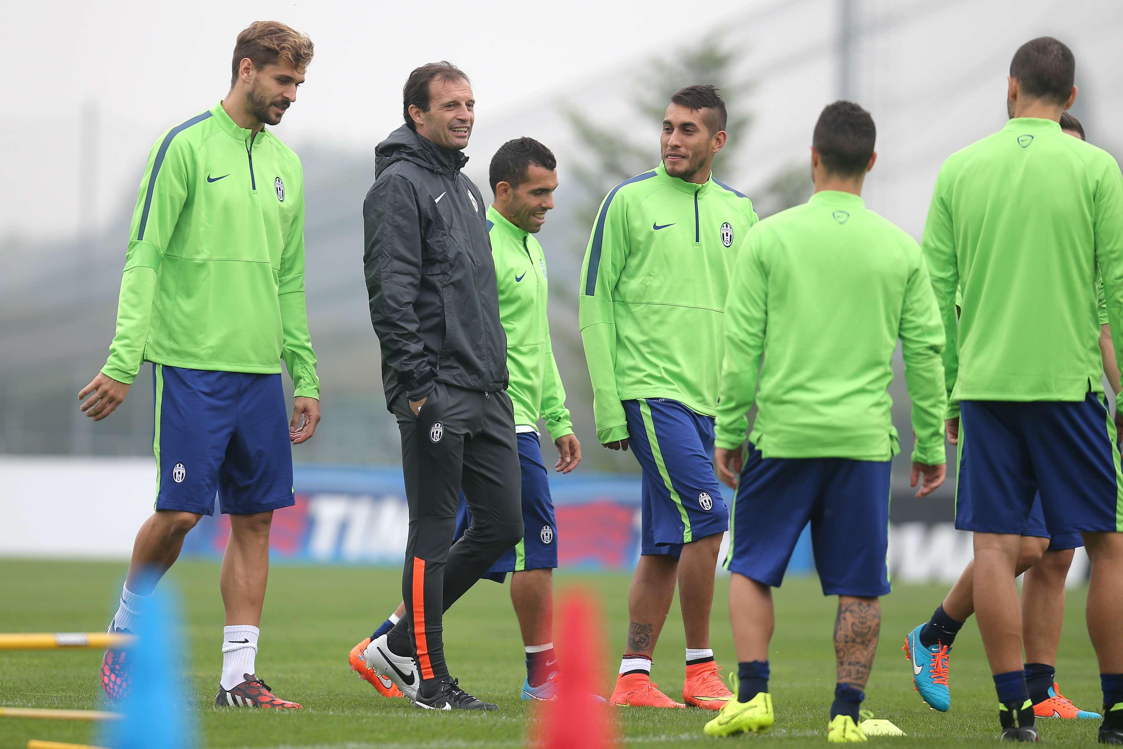 La Juventus cerró entrenamientos para enfrentar al Atlético. Foto: AFP