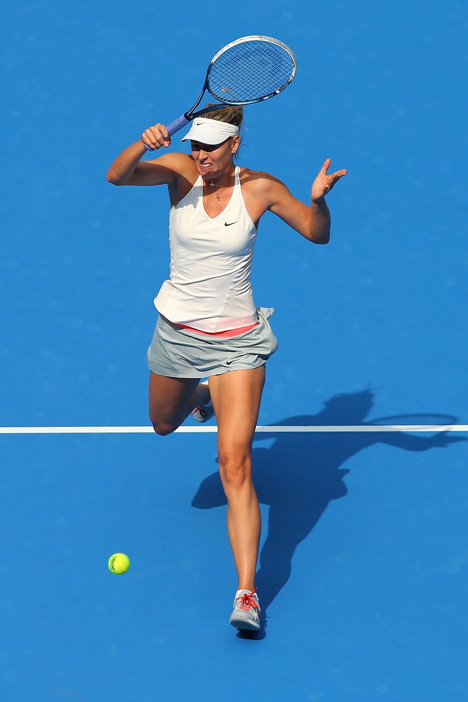 Sharapova derrotó fácilmente a su rival en Pekín. Foto: AFP
