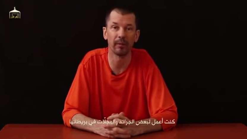 O jornalista foi sequestrado na Síria em 2012 e este é o terceiro vídeo em que ele aparece Foto: Youtube/Times of Lebanon/Reprodução