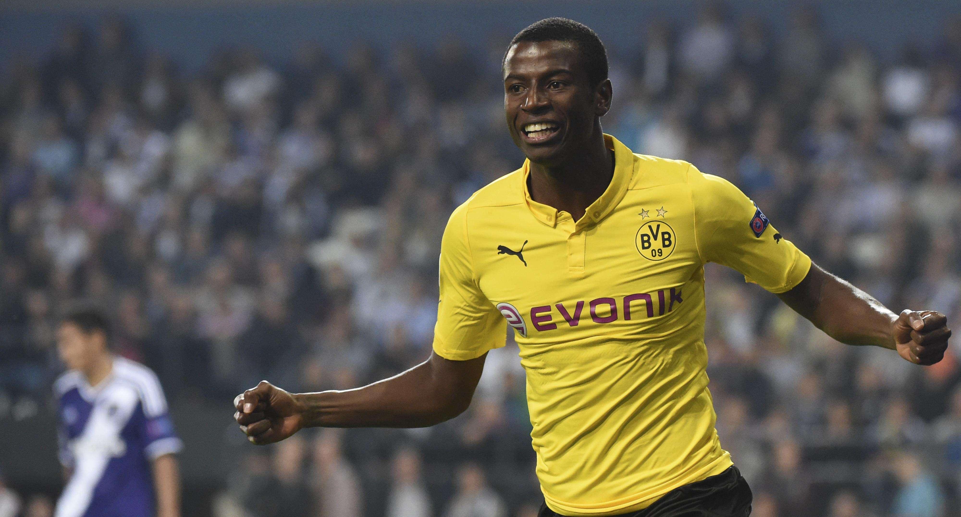 Adrian Ramos marcou duas vezes na vitória do Borussia Dortmund sobre o Anderlecht Foto: Geert Vanden Winjgaert/AP